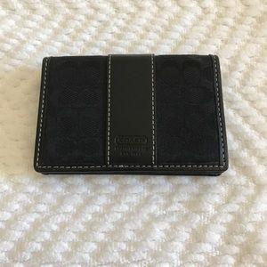 Small Black Coach ID Wallet